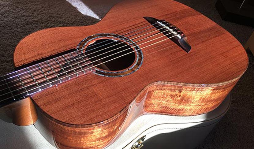 Gorgeous Old Redwood Top Paired With Curly KOA