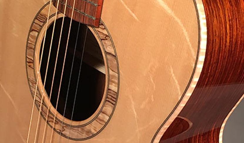 Flamewood Concert Guitar Complete