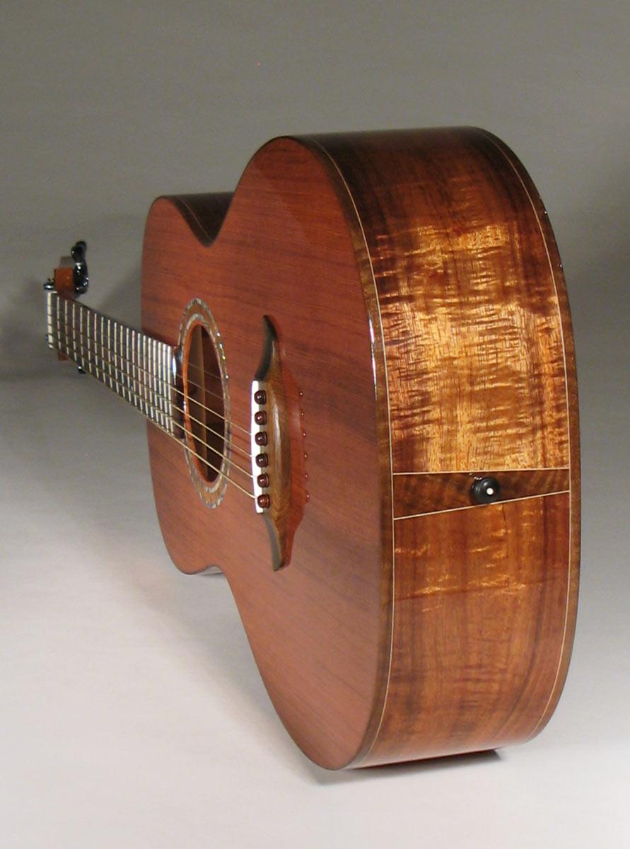 Old Redwood and Koa Parlor Guitar