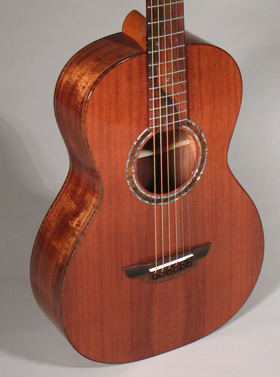 Old Redwood and Koa Parlor Guitar
