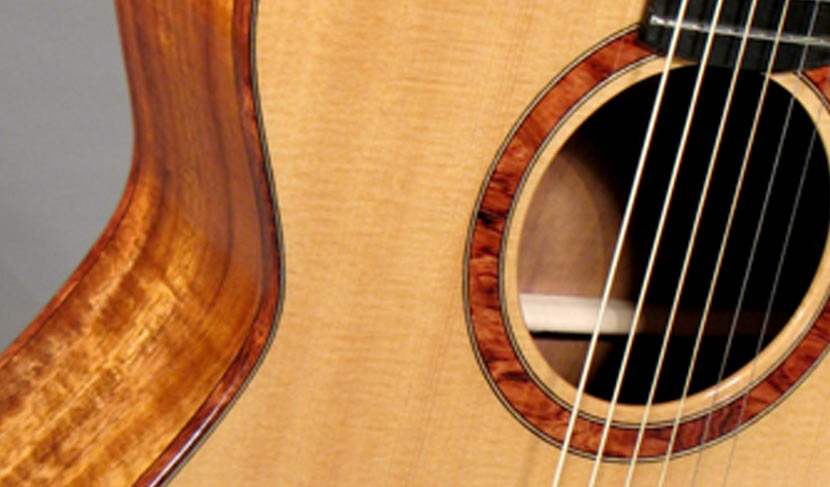 Hawaiian Curly Koa Concert Guitar