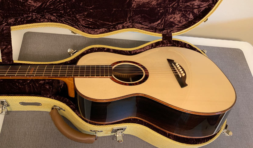 Brazilian Rosewood And Red Spruce Parlor Guitar